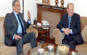 عمرو موسى ورئيس النواب اللبنانى